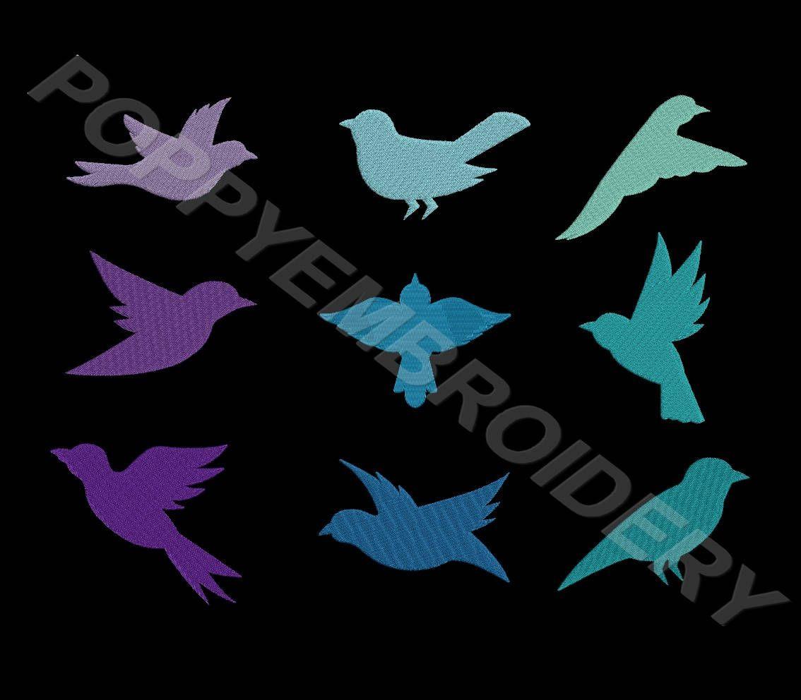 Bird Design For Embroidery Machine Oiseau Motifs Pour Broderie
