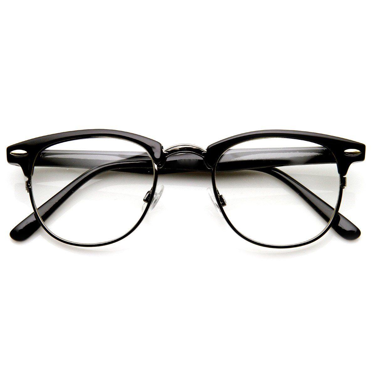 c5538b861d Vintage Half Frame Semi-Rimless Horn Rimmed Style Classic Optical RX  Sunglasses