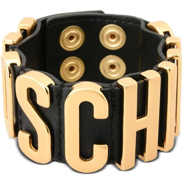 Moschino Bracelet 210 Liked On Polyvore Featuring Jewelry Bracelets Black Snap And