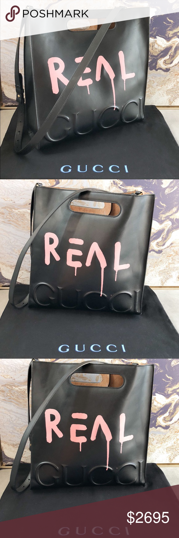 58cd31cdb Gucci GucciGhost XL Large Calfskin Leather Tote Rare Gorgeous authentic Gucci  GucciGhost XL tote. This