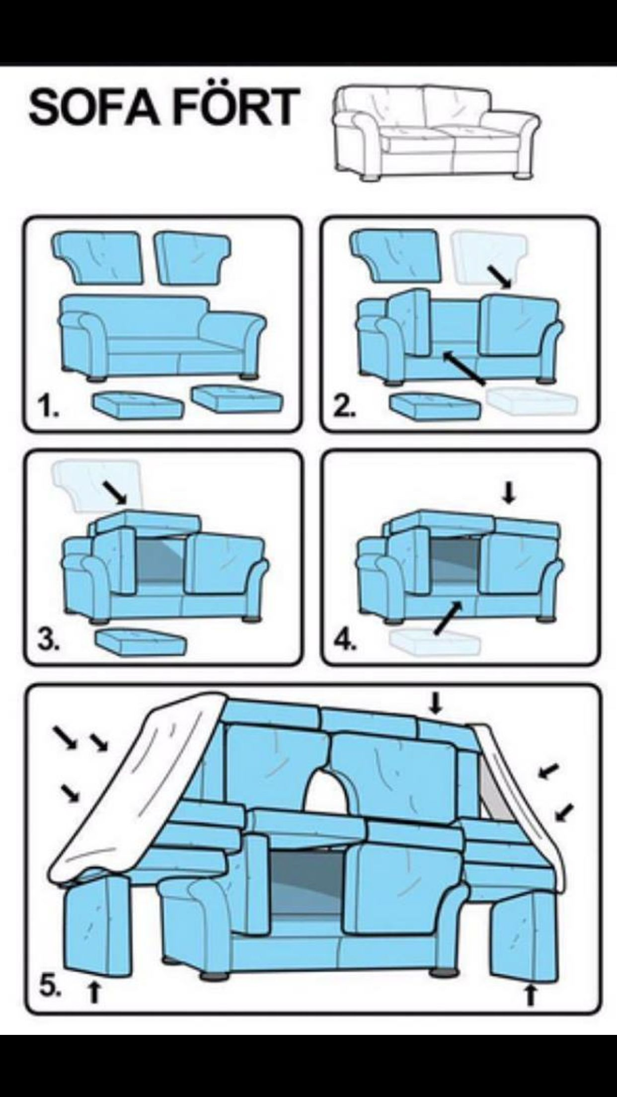 Sofa fort for the home pinterest sofa fort forts for How to find a good home builder