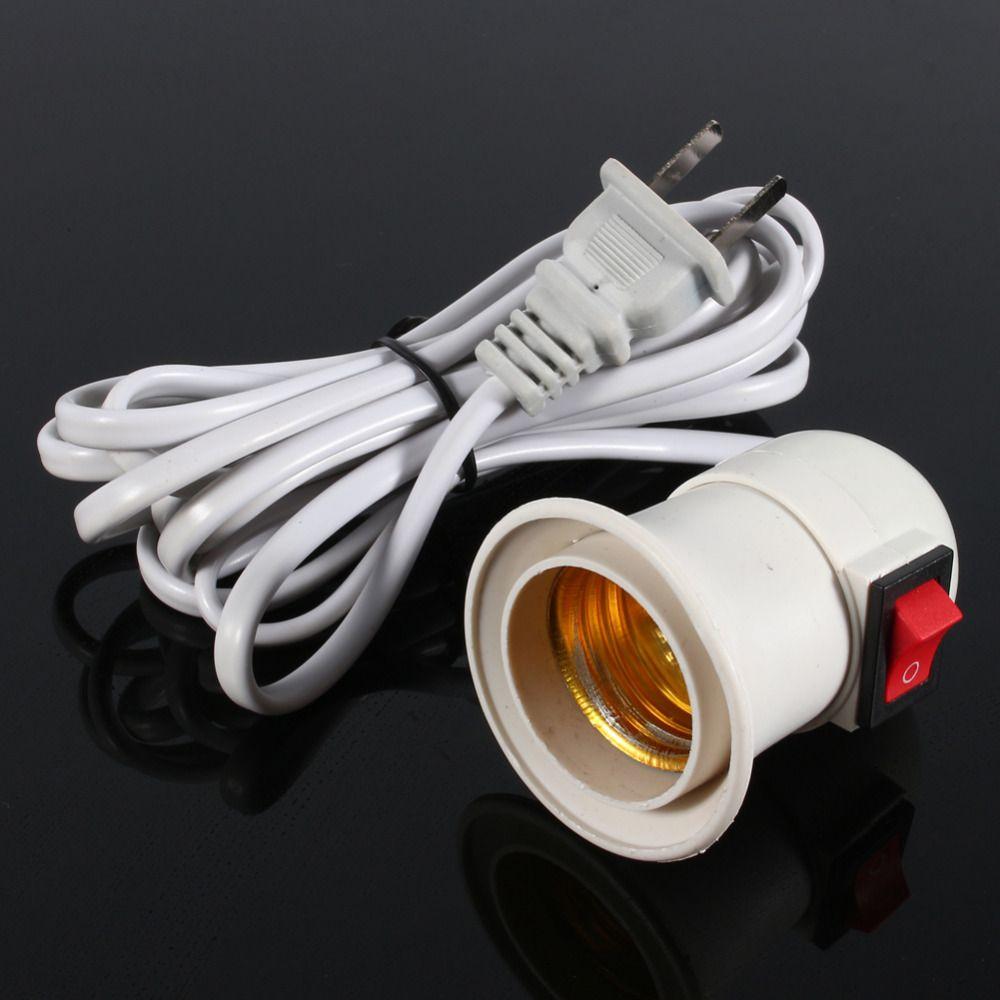 E27 Bulb Base Adaptor Switch Cable Lamp Light Socket Holder Converter Us Plug Socket Holder Led Light Lamp Lamp Holder