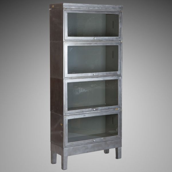 mid century green and gold murano glass bird antique vintage industrial barrister bookcase. Black Bedroom Furniture Sets. Home Design Ideas