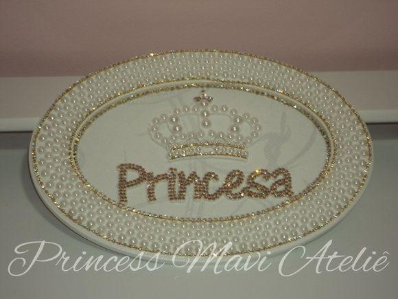 Quadro Princesa Com Coroa Produto Sofisticado Para Completar A