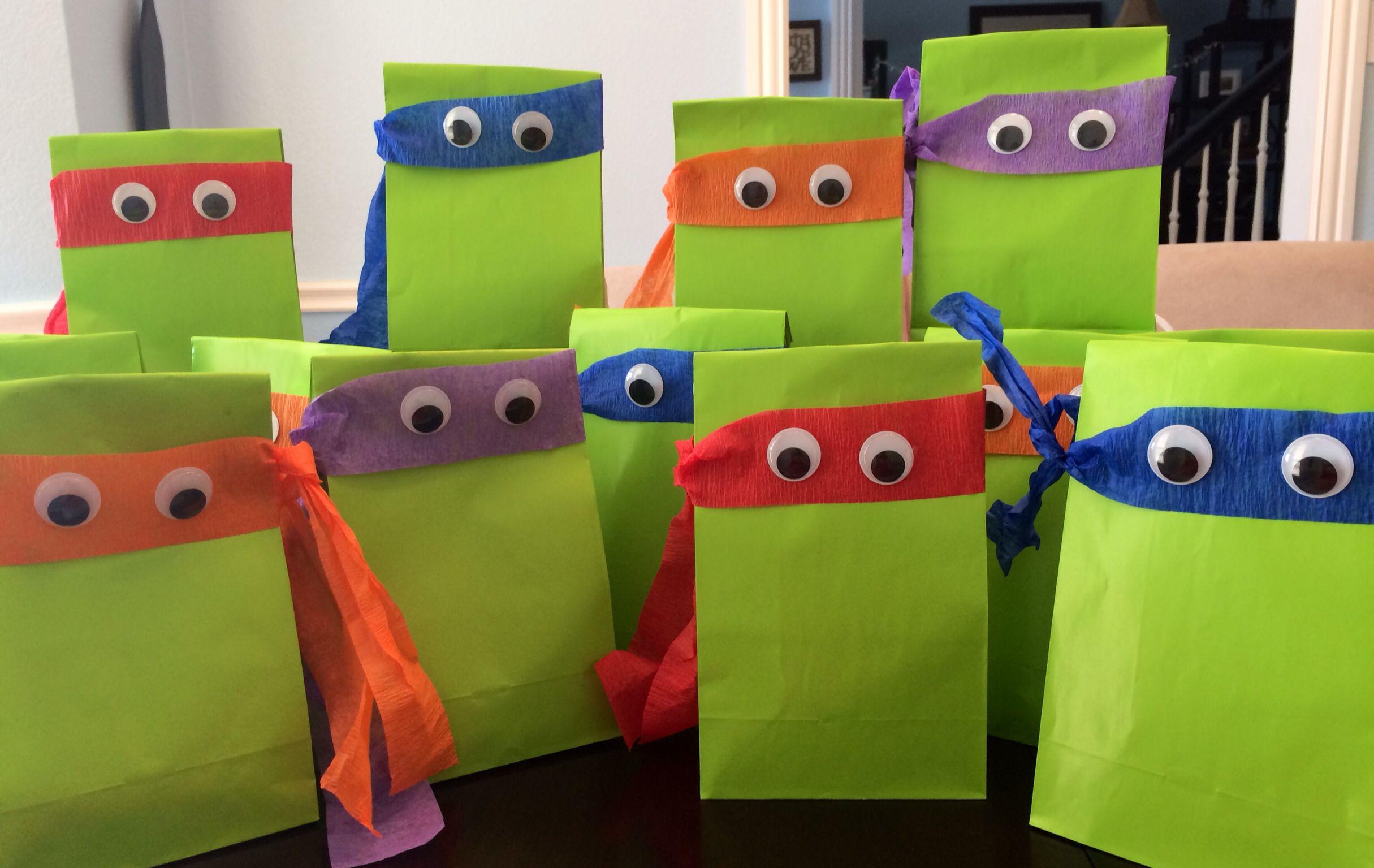 Ninja Turtle gift bags | TMNT | Pinterest | Ninja turtles, Turtle ...