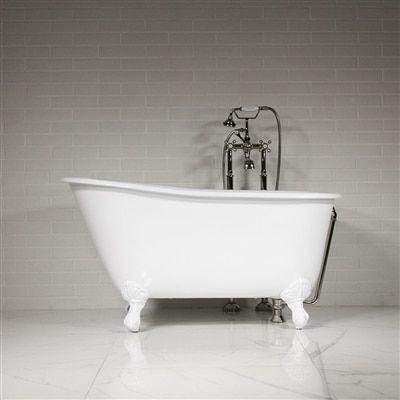 penhaglion the lapley 54 inch cast iron swedish slipper tub package