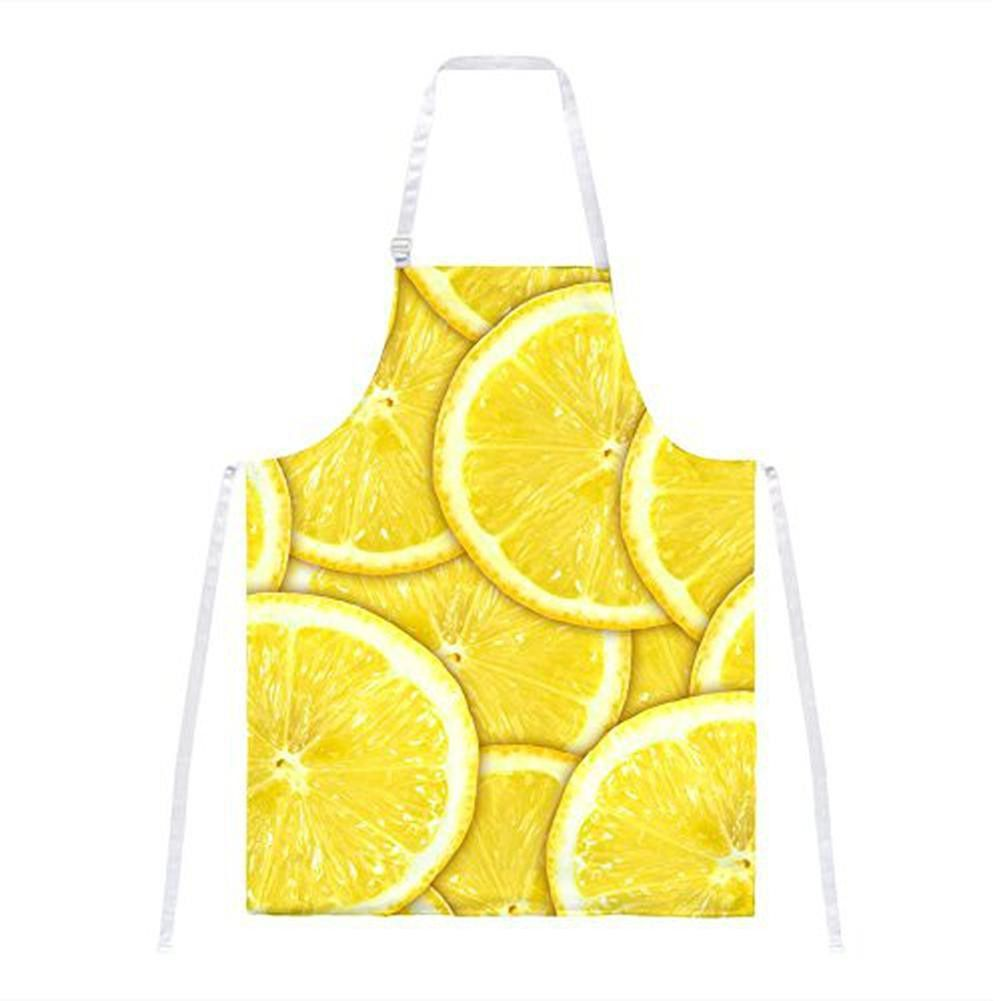 Lemon Lemons Citrus All Over Apron Yellow wallpaper
