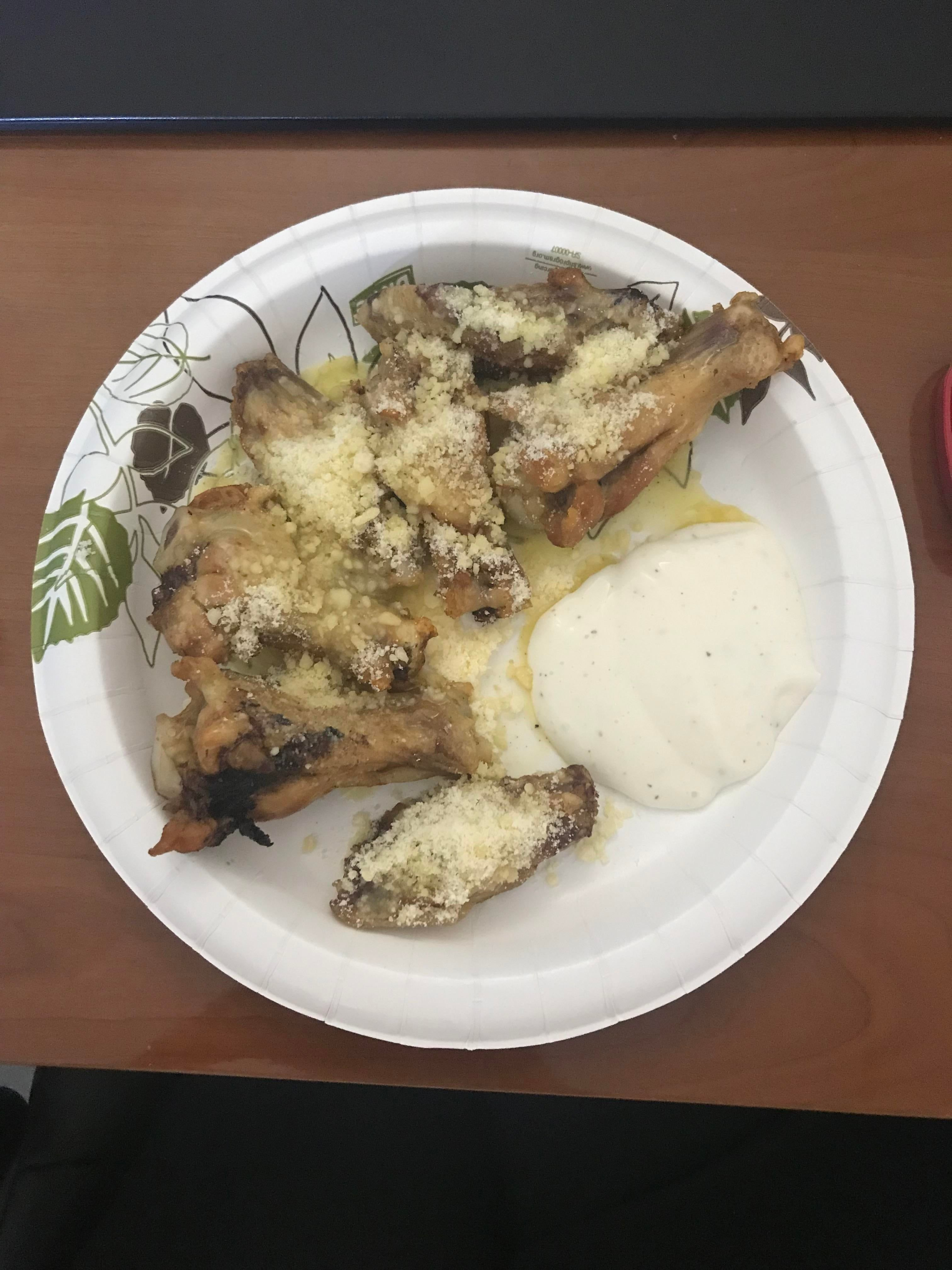 Garlic Parmesan Chicken Wings with Ranch: my go-to meal lately