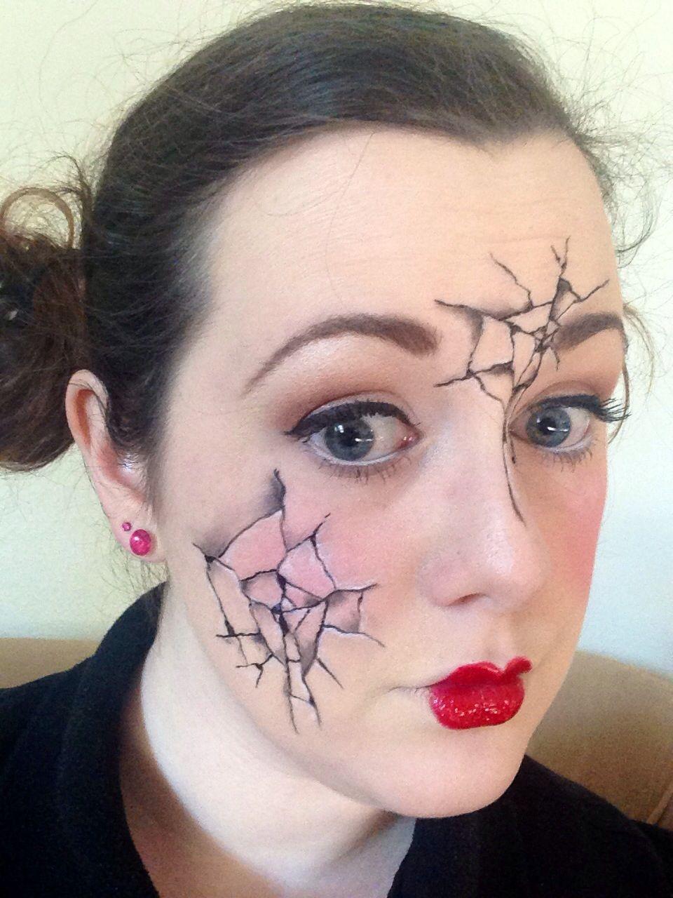 Cracked Face Halloween Makeup Unique Halloween Makeup Cool