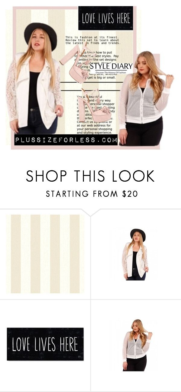 """PlusSizeForLess"" by plussizeforless ❤ liked on Polyvore featuring Aquazzura"