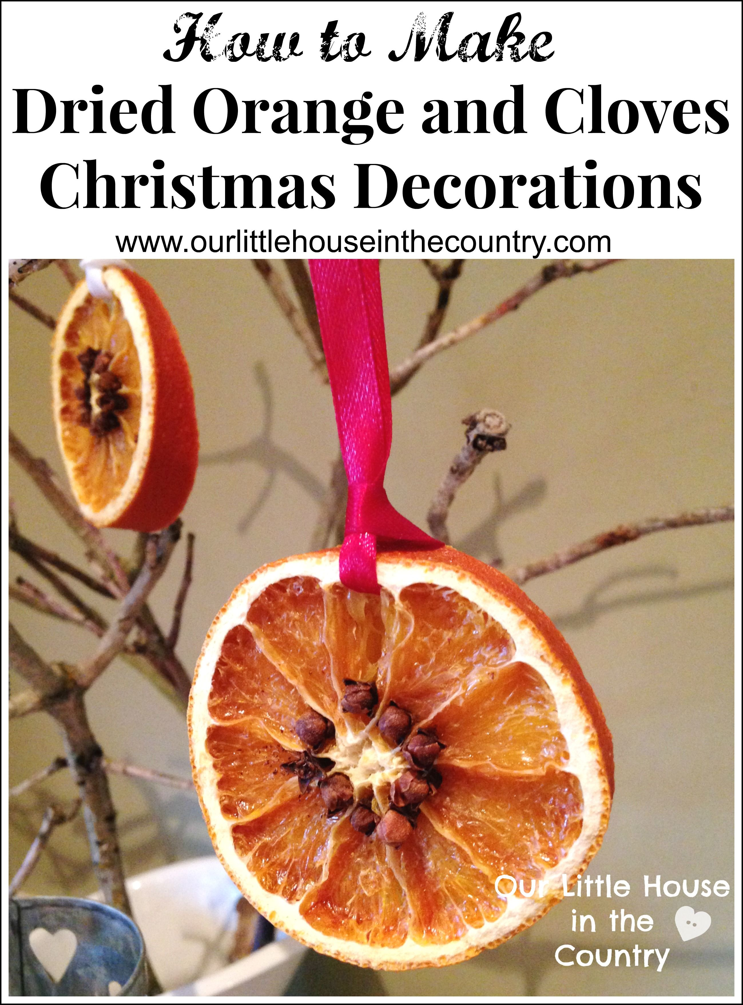dried orange christmas decorations