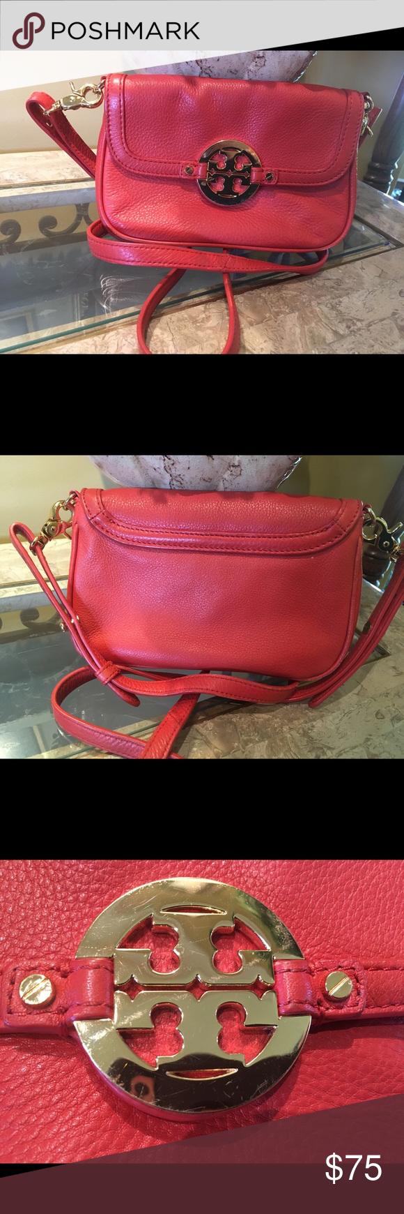 6e9f9da303e Tory Burch Orange Leather Crossbody Purse! Authentic Tory Burch orange  leather Crossbody purse. Preowned