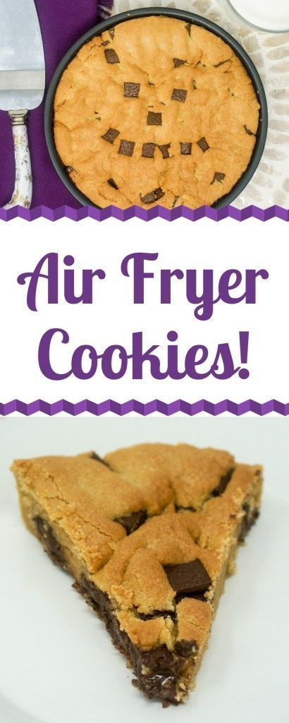 Air Fryer Chocolate Chip Cookie #airfryerrecipes