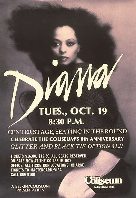 diana ross 1982 concert poster the