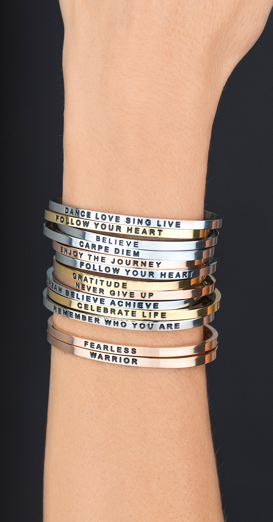 ba133a4507b Words are powerful. Mantraband bracelets make the perfect gift for ...
