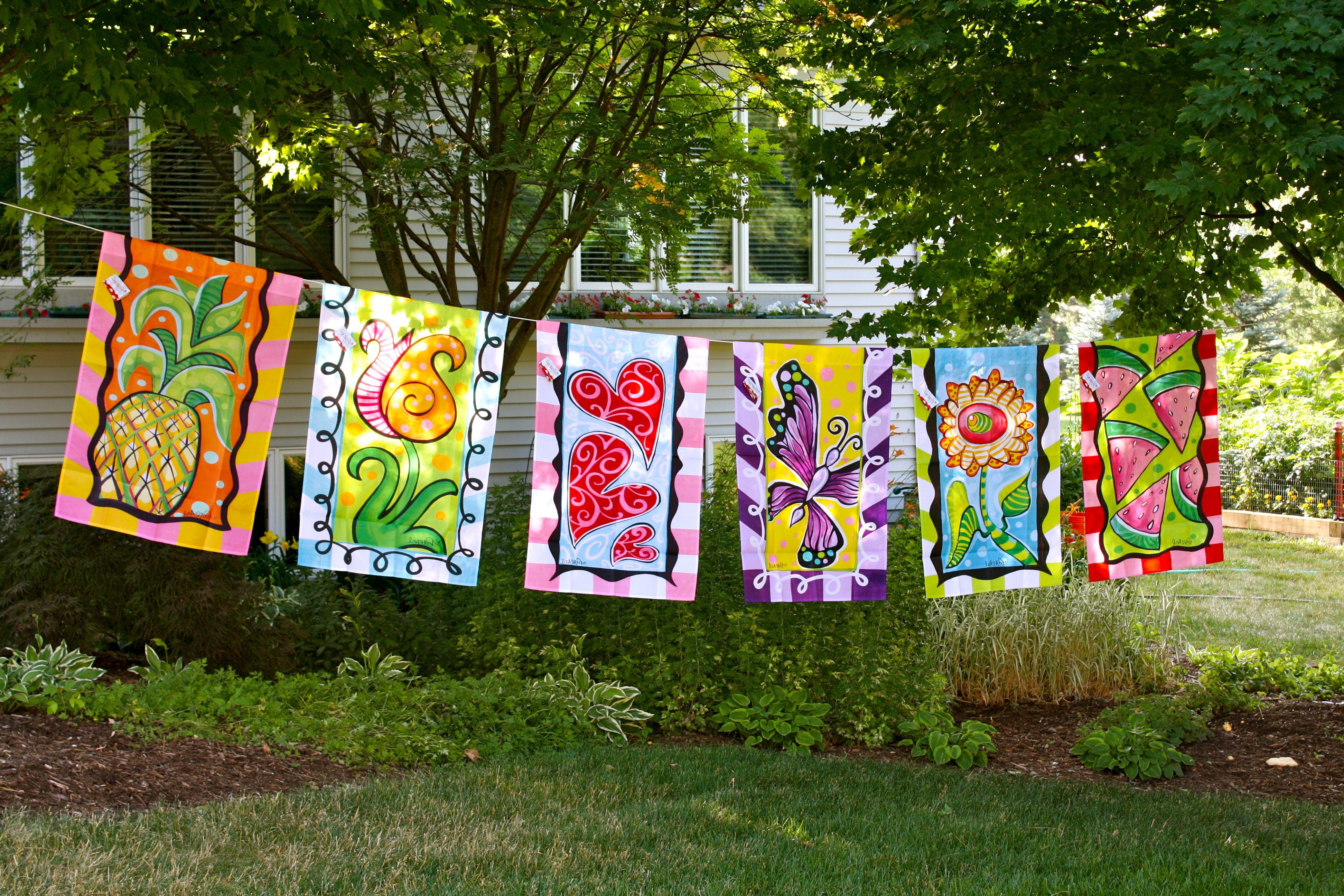 garden flags. Garden Flags By Www.lisafroststudio.com