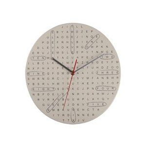 Crossword Puzzle Word Search Style Novelty Wall Clock Home Decor