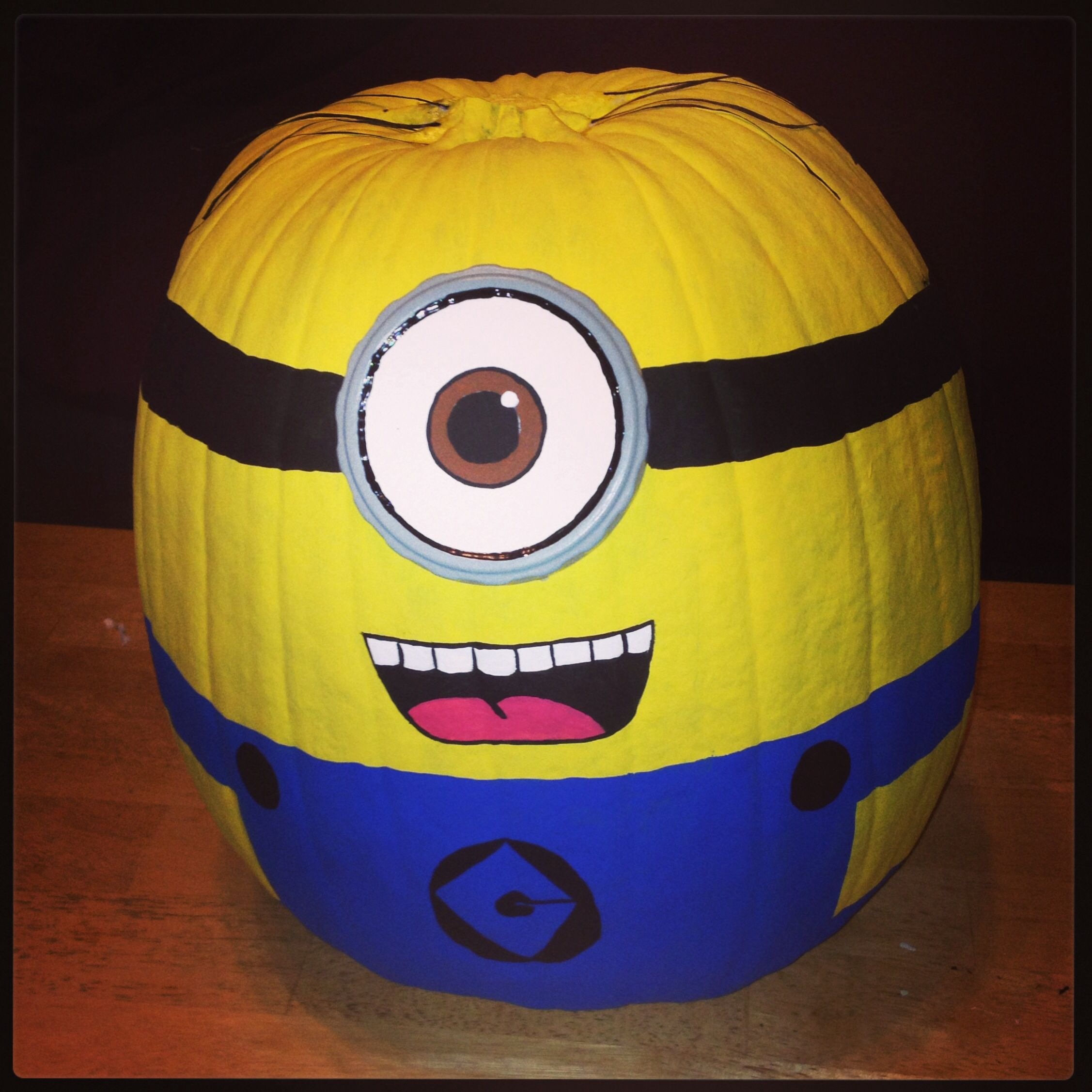 my minion pumpkin:) #minion #decorated #pumpkin | ariannas 2nd party