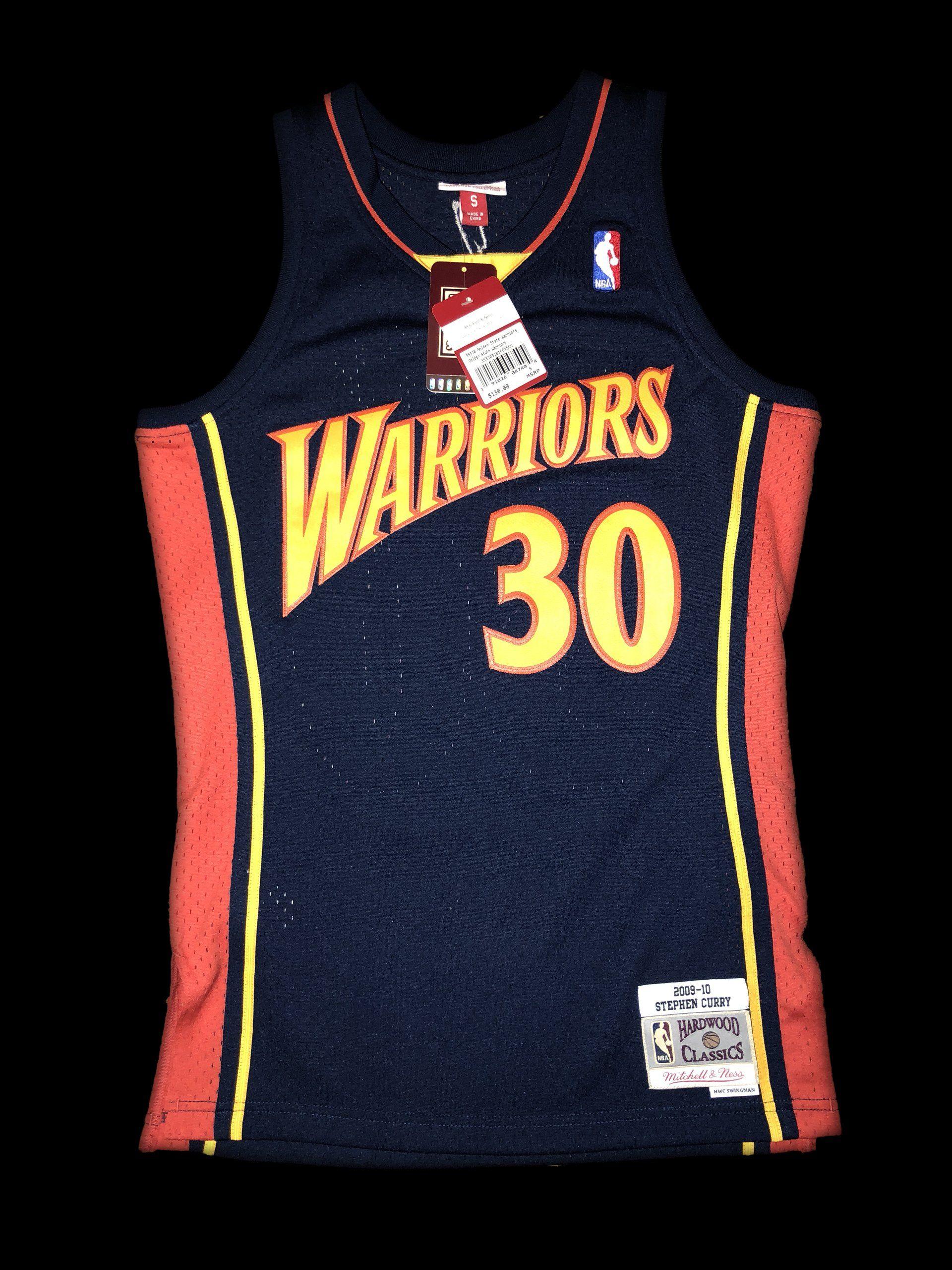 best sneakers 03edf d2e8b Steph Curry Golden State Warriors Mitchell & Ness NBA Jersey ...