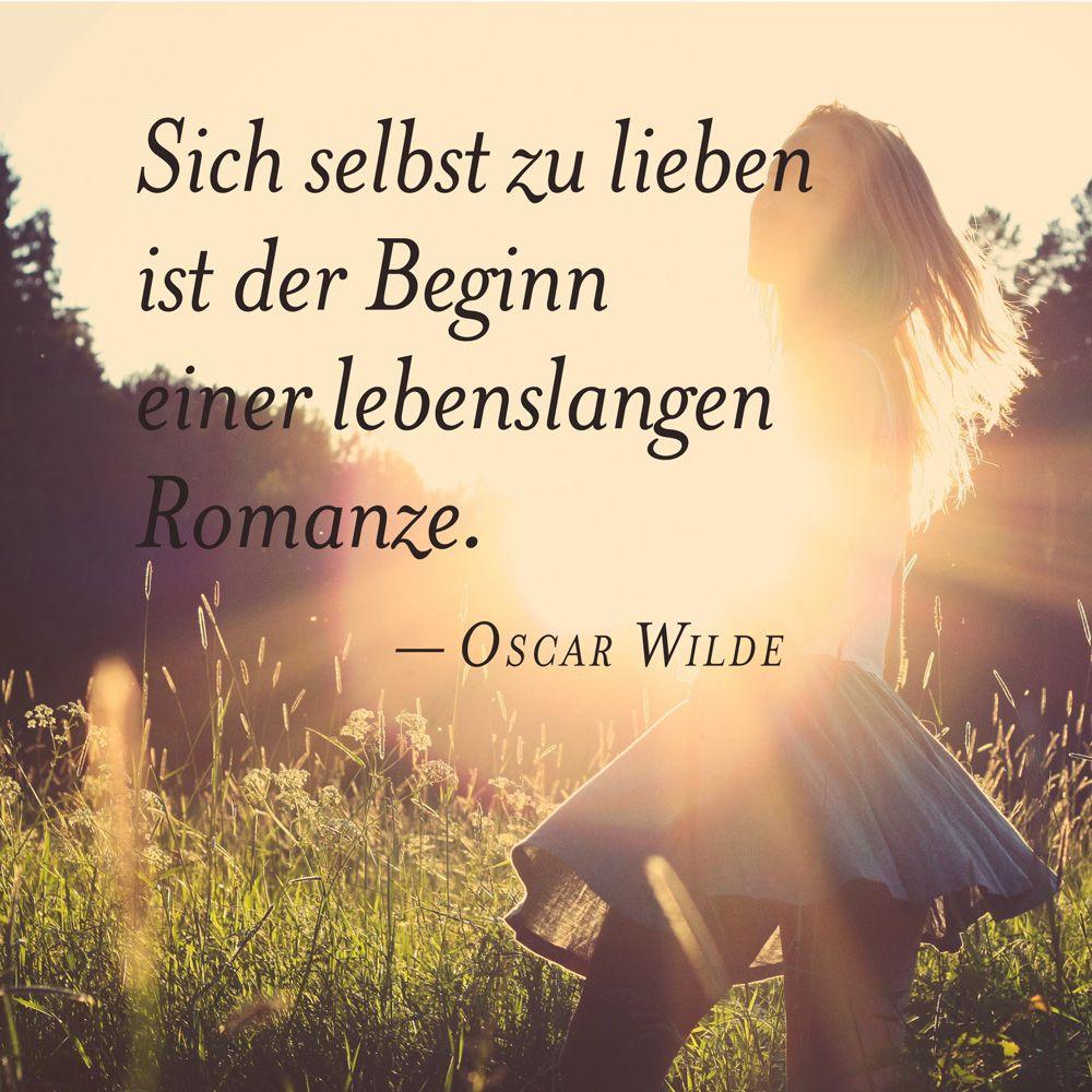 Oscar Wilde: Sich selbst zu lieben ist der Beginn einer