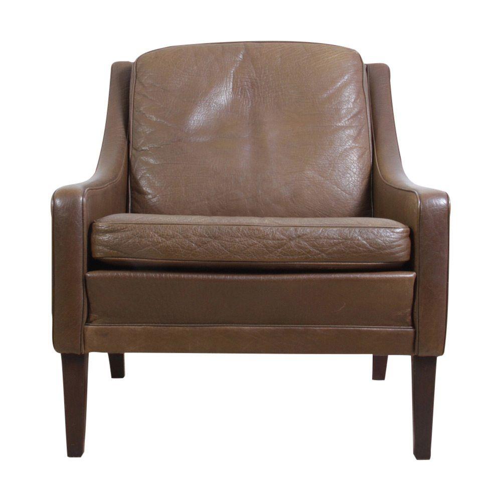 Brown Armchair Brown Leather Armchair Borge Mogensen Style Danish C1960 Layer