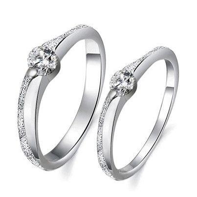 Gullei Trustmart Matching diamond popular couple rings set