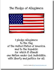 graphic regarding Pledge of Allegiance Words Printable called Preschool Corner ~ Pledge of Allegiance Lords Prayer