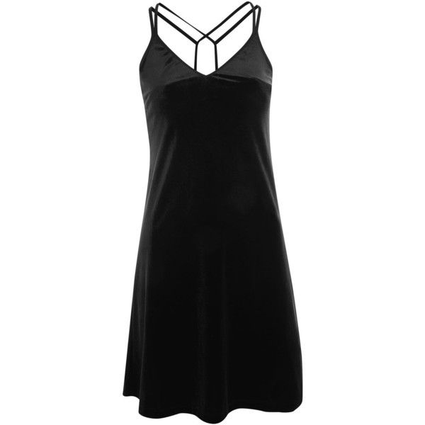 3fe908c9a08 Topshop Tall Velvet Slip Dress ( 24) ❤ liked on Polyvore featuring dresses