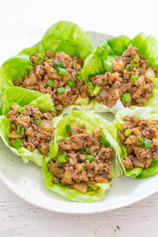 pf chang's chicken lettuce wraps copycat  recipe