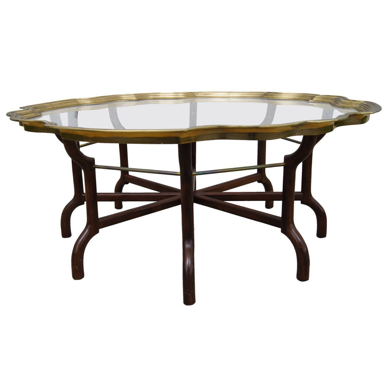 Brass And Glass Tray Top Coffee Table Attributed To Baker Furniture Baker Furniture Furniture Coffee Table [ 1280 x 1280 Pixel ]