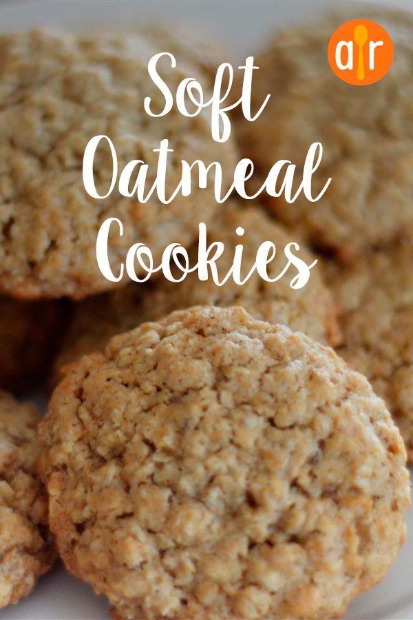Soft Oatmeal Cookies #cookies