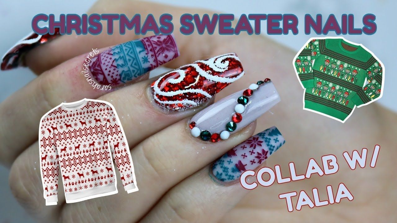 UGLY CHRISTMAS SWEATER NAIL - YouTube | Nails in 2018 | Pinterest ...