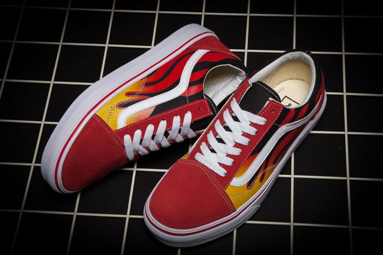 Vans Old Skool Classics Flame Limited Edition Red Low Top