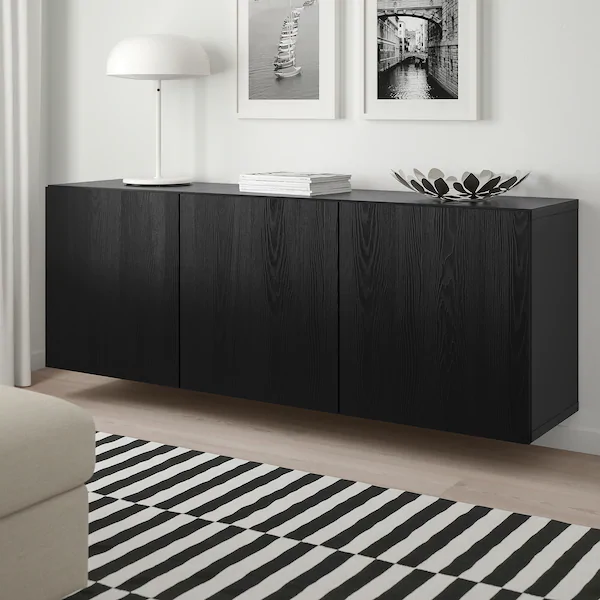 Besta Kastencombinatie Voor Wandmontage Zwartbruin Timmerviken Zwart 180x42x64 Cm Slaapkamer Dressoirs Ikea Huis Interieur Design