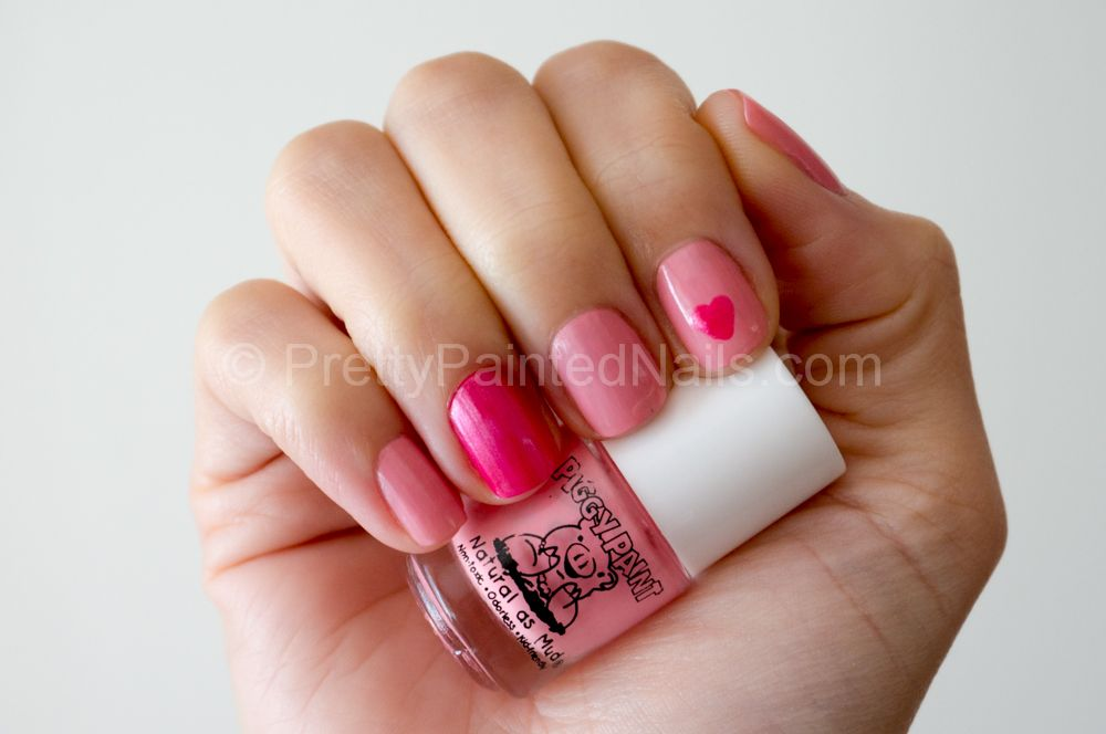 Piggy Paint Water Based Nail Polish Swatch Angel Kisses Soft Pink ...