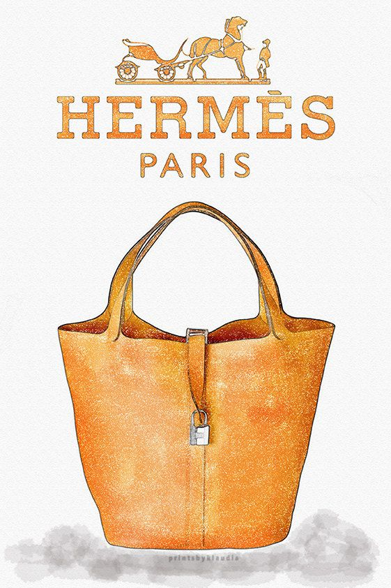 f6f889a5db Hermes handbag Print. Watercolor artwork. by printsbyklaudia