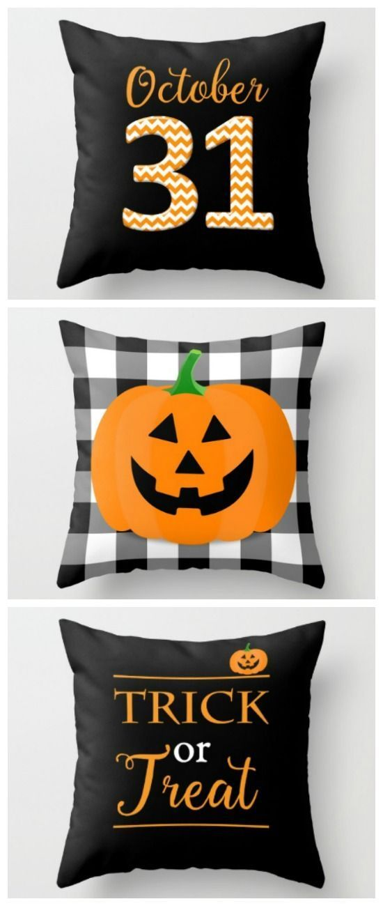 Halloween Pillow Covers from Sutton Place Designs Easy and festive - when should you decorate for halloween