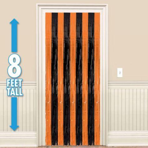 Halloween Fringe Doorway Curtain - Party City 96in Plastic ...