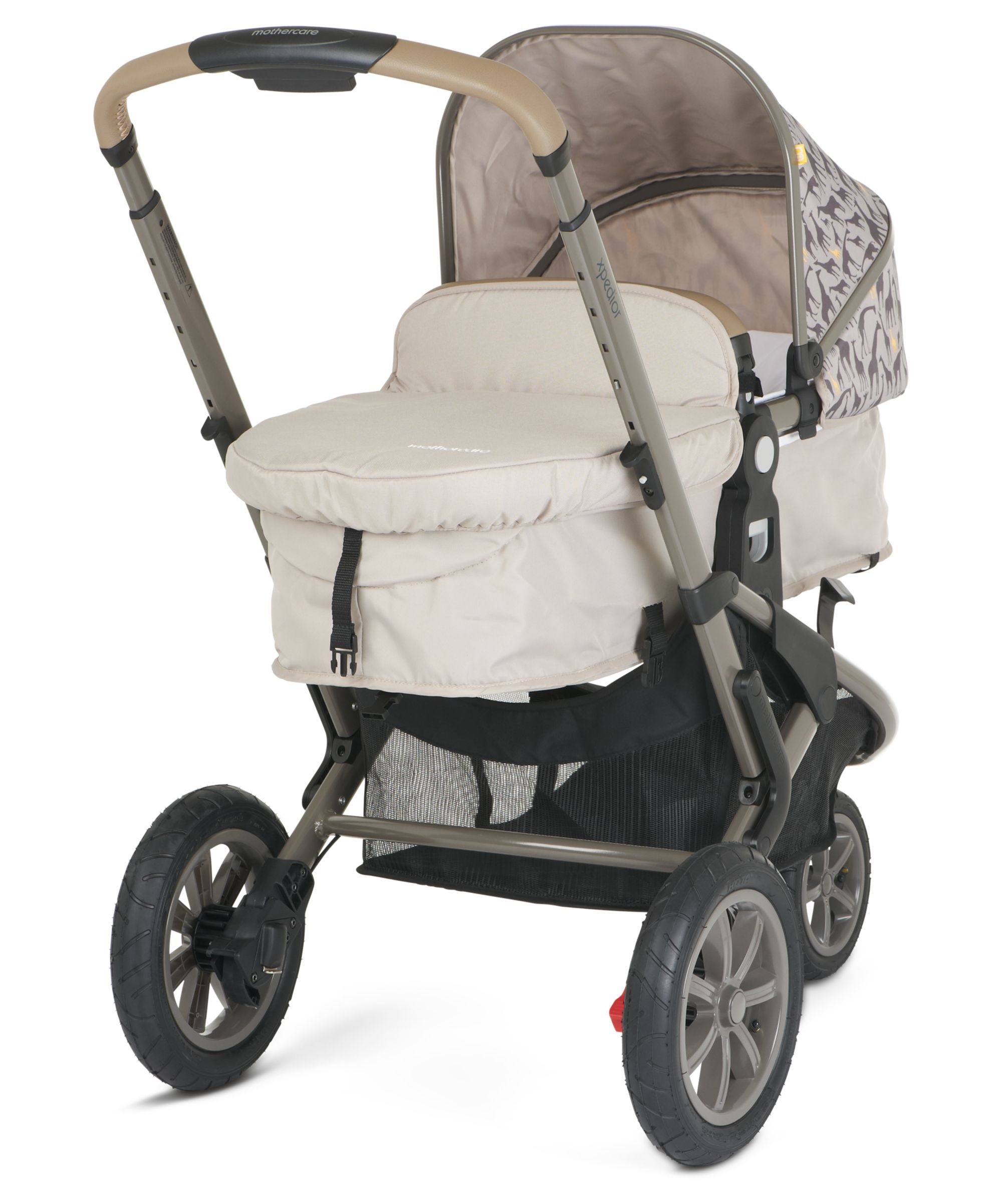 Mothercare Xpedior Pram and Pushchair Travel System Tusk
