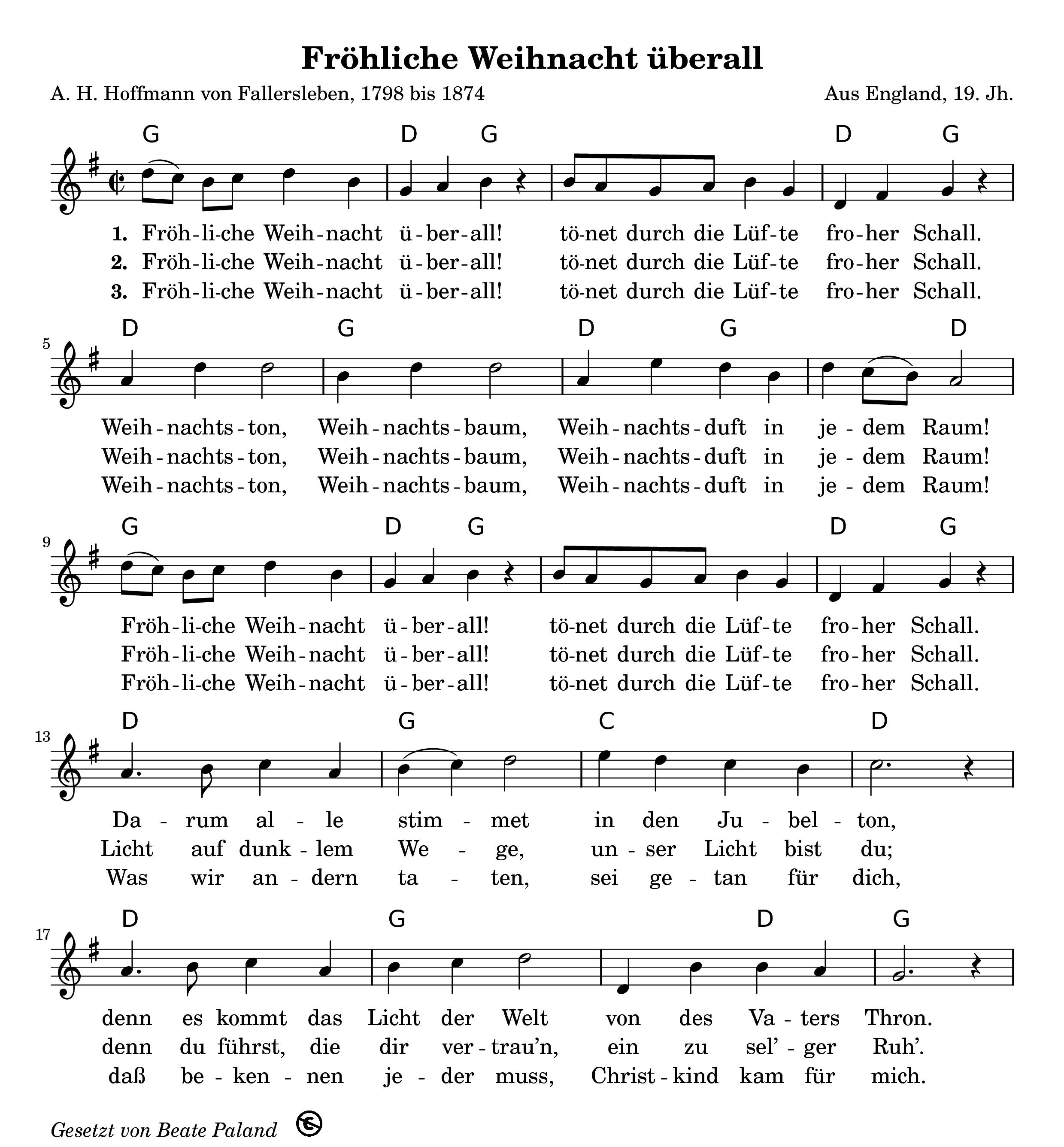 Frohliche Weihnacht Uberall Gitarrenlieder Weihnachtslieder Texte Weihnachtslieder