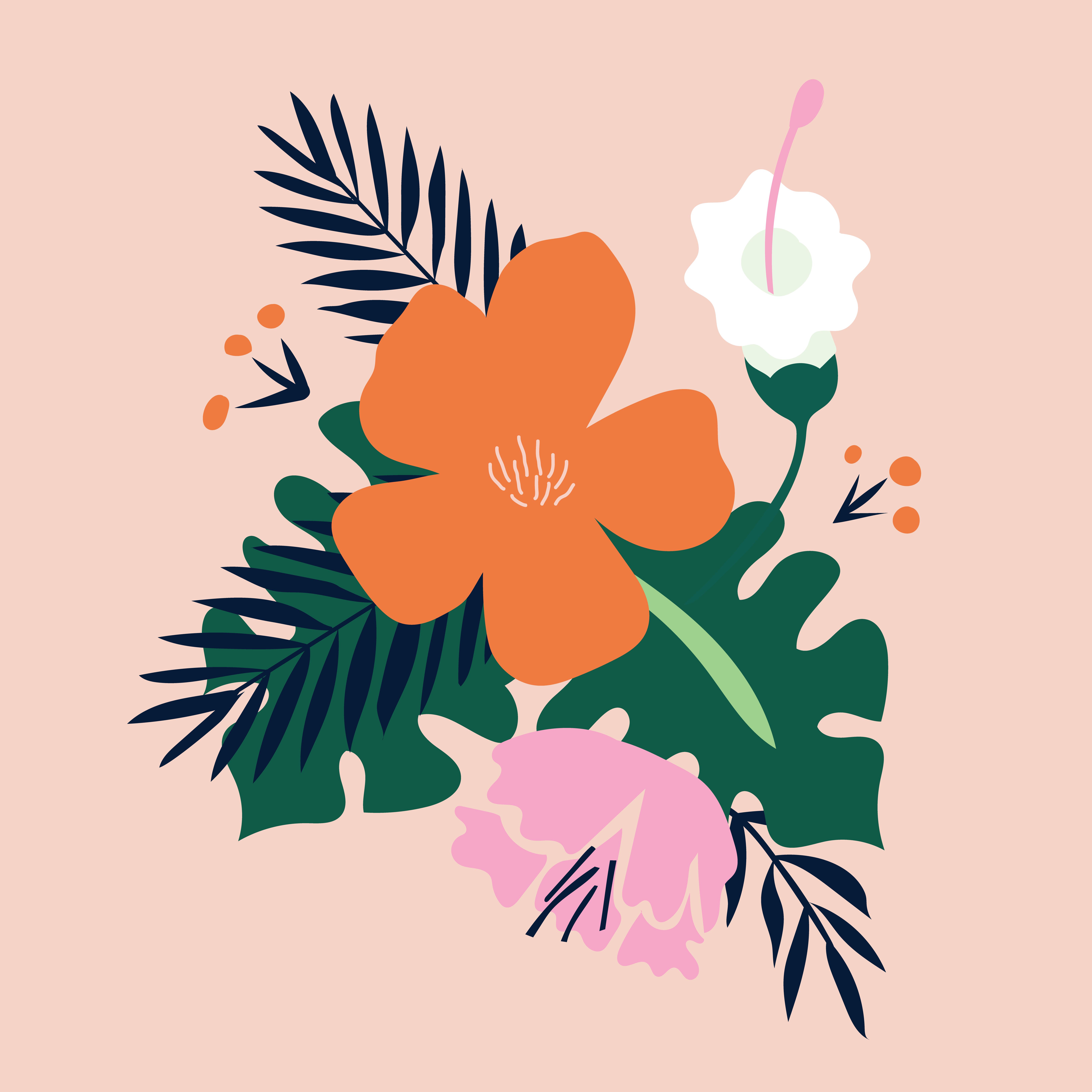 Spring Flowers Illustration By Bailey Mcginn Pinterest