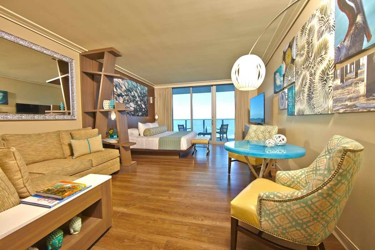 Peek inside the rooms at the Opal Sands Resort, the latest luxury hotel to pop up in Clearwater, Florida.
