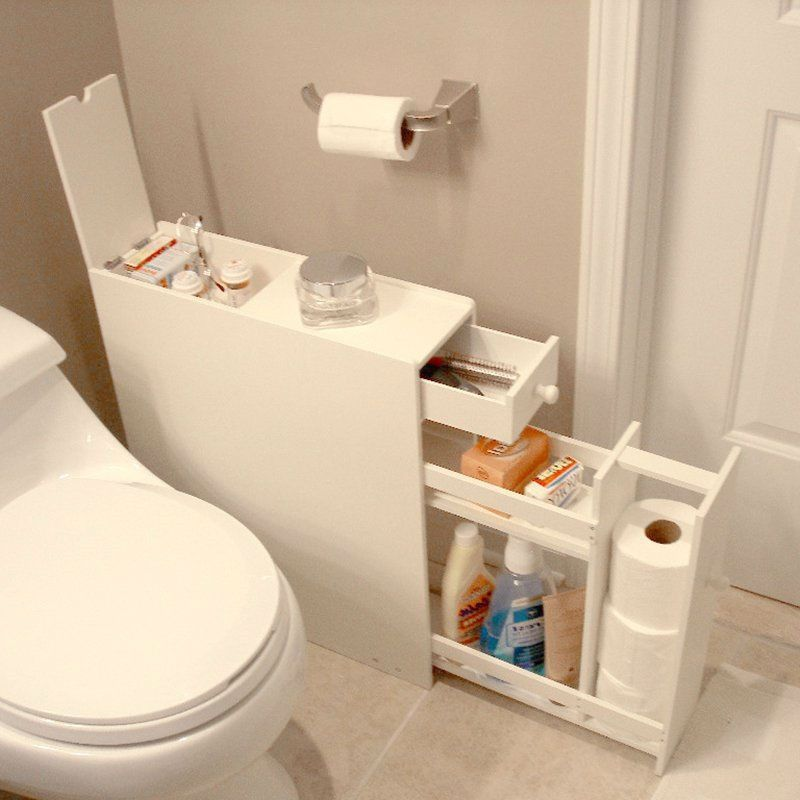 Looking To Free Up Some Room In Your Medicine Cabinet Without Losing All Your Floor Space Space Saving Bathroom Bathroom Floor Cabinets Small Bathroom Storage