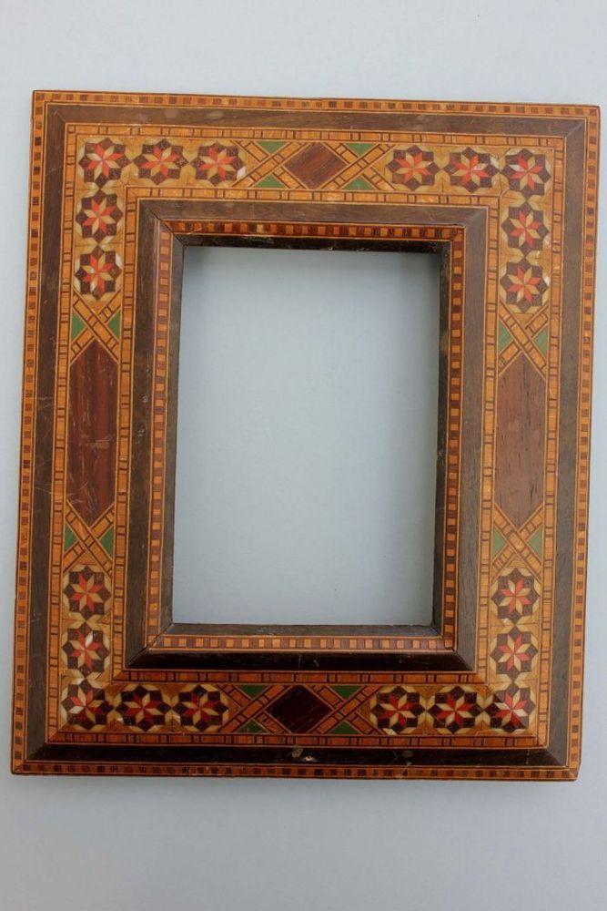 Kleiner Rahmen mit farbigen Einlegearbeiten, Marokko   furniture ...