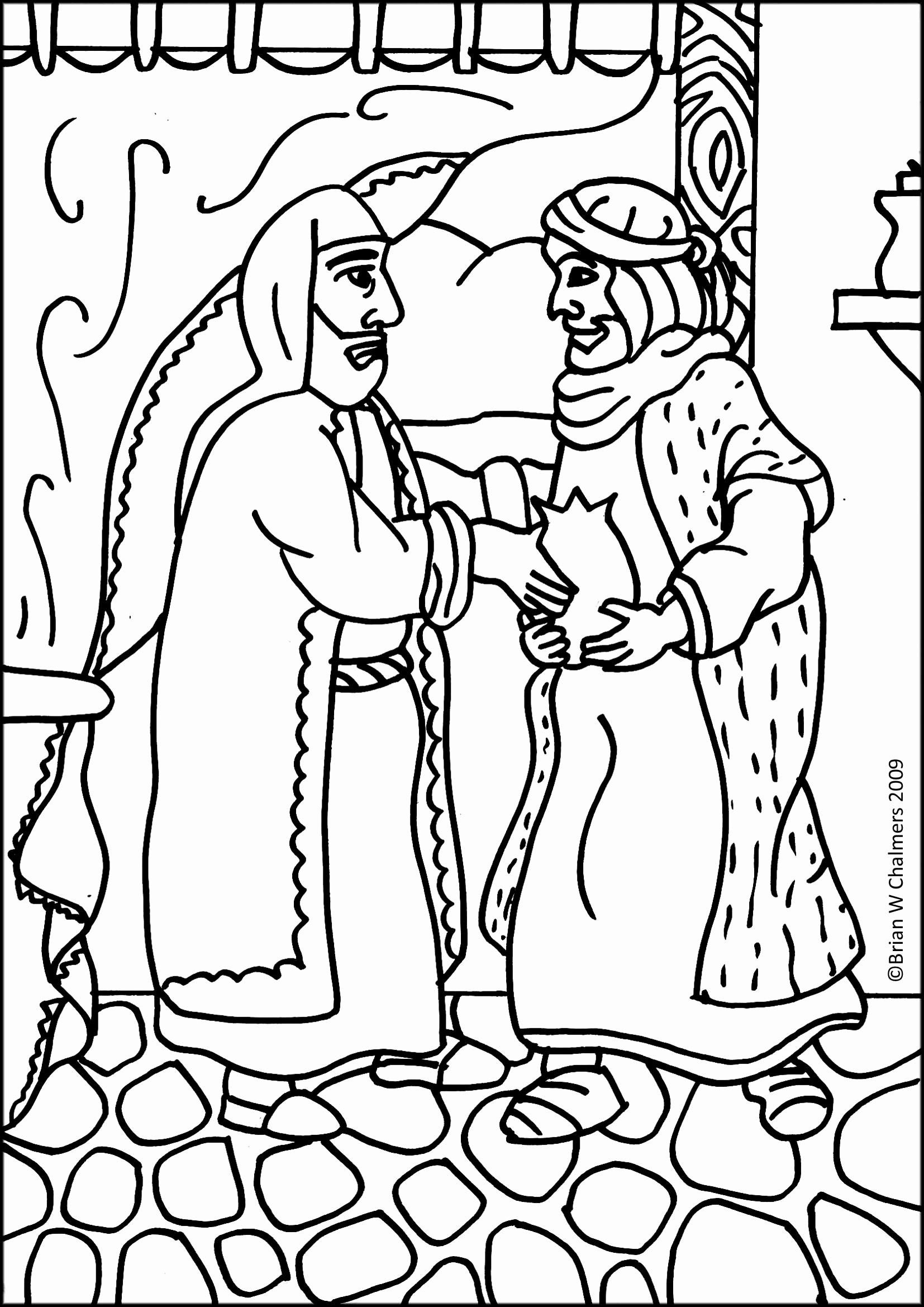 Prodical son Coloring Page Lovely Free Prodigal son ...