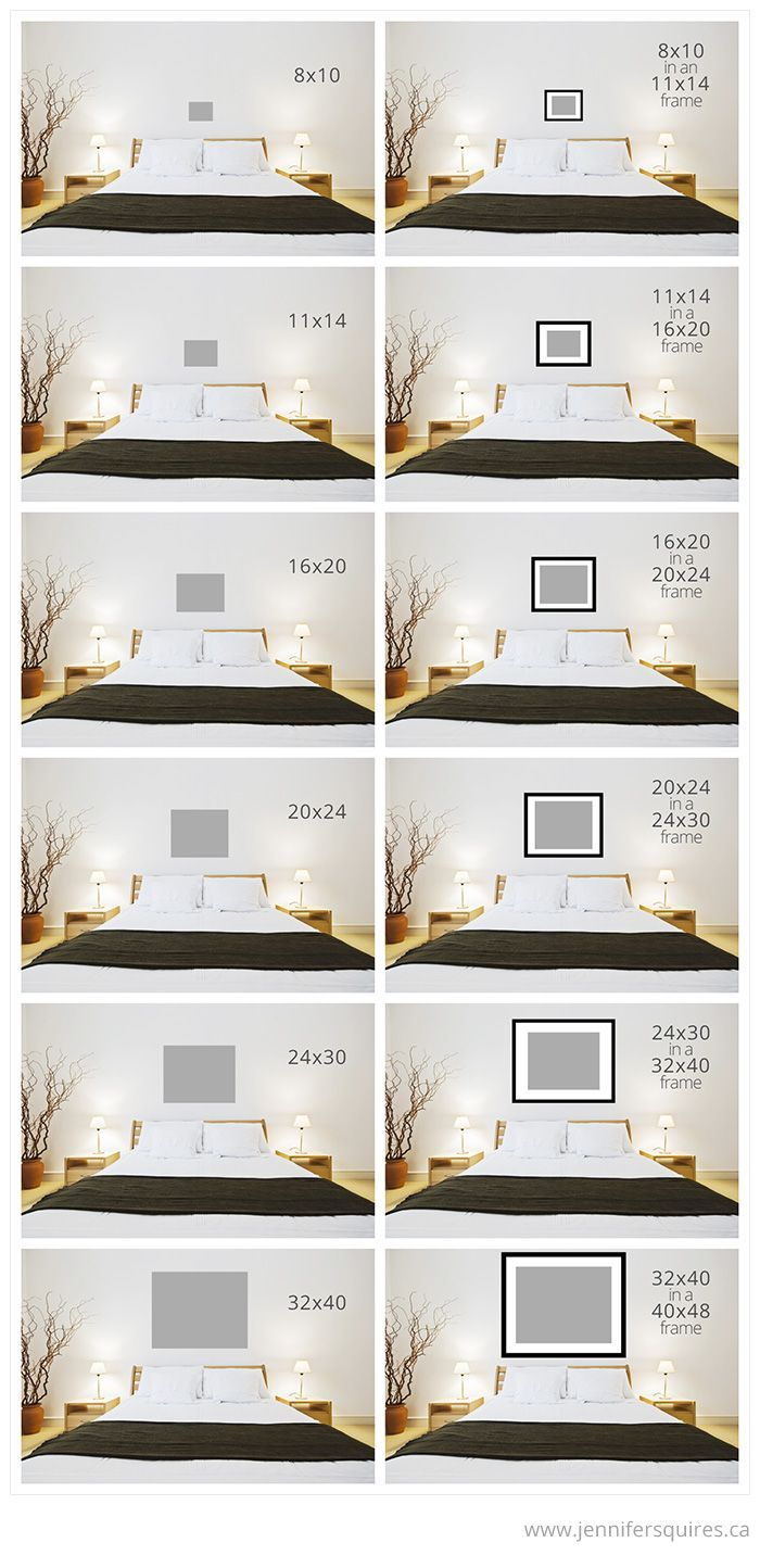 Bedroom: Art Sizes Above Bed Art Size For Above The Bed