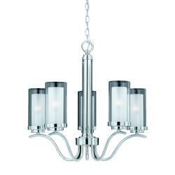 Triarch international cylindique 5 light chrome chandelier decor triarch international cylindique 5 light chrome chandelier aloadofball Image collections