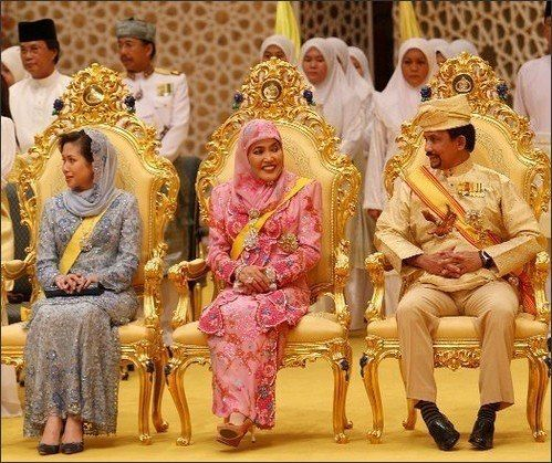The Sultan of Brunei on His daughter's wedding day