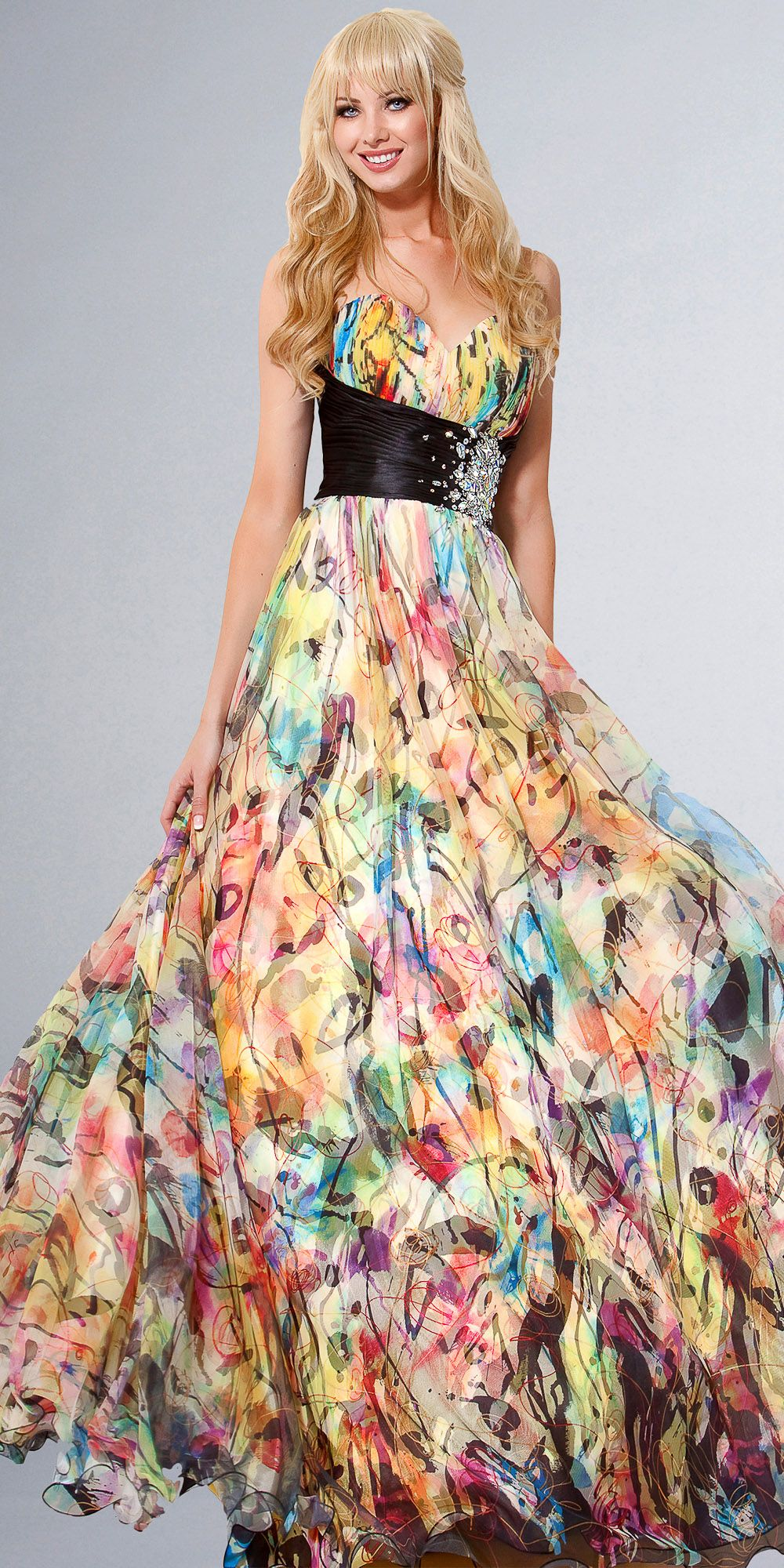 Floral Print Ball Gowns by Jovani $500.00 | Ma Lov Mode | Pinterest ...