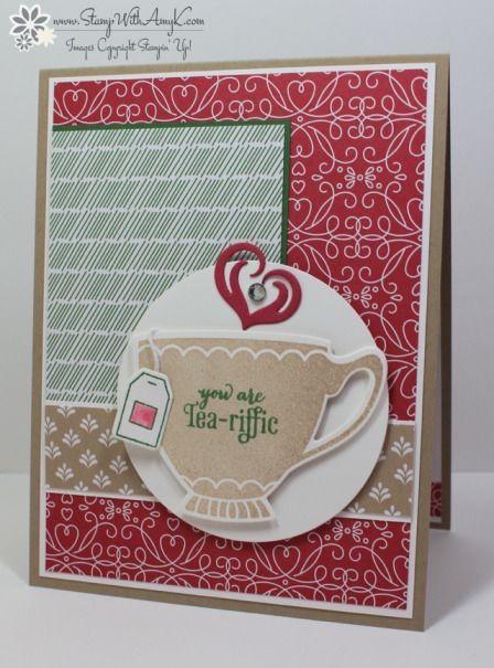 Stampin' Up! A Nice Cuppa Tea-riffic Card #cuppatea